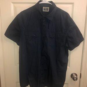 Converse blue button up shirt